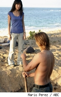 Yunjin Kim and Josh Holloway