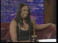 Jennifer Hudson is toting around her Oscar. 
