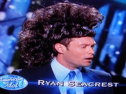 Ryan Seacrest with faux-hawk
