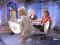 Barbara Walters squats