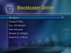 Blockbuster TiVo menu