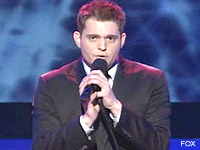 Michael Buble might have been hitting the bubbly 