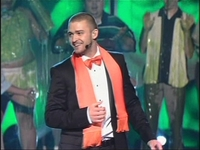 Justin Timberlake is about to get slimed.