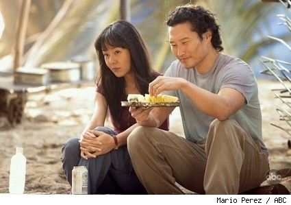 Yunjin Kim and Daniel Dae Kim