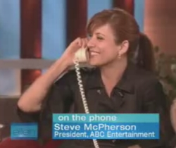Kate Walsh talking to Steve McPherson
