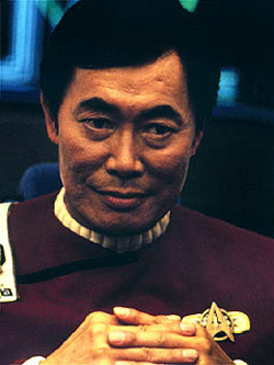 George Takei as Captain Hikaru Sulu on Star Trek