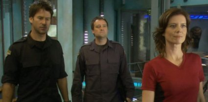 joe flanigan, david hewlett, torri higginson - stargate atlantis