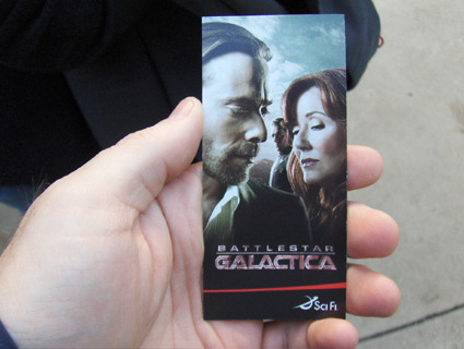 Battlestar Galactica: the ticket