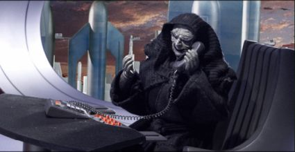 Emperor Palpatine from the Robot Chicken Star Wars Special