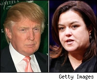 Donal Trump and Rosie O'Donnell