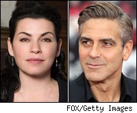 Julianne Margulies and George Clooney