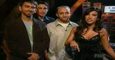 Adriana with the contestants who didn't get the boot.