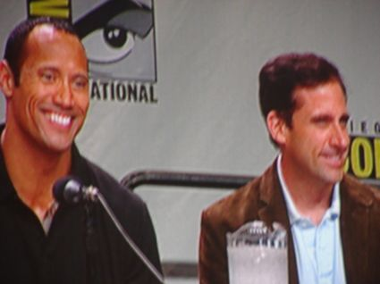 Rock and Carrell at Comic-Con