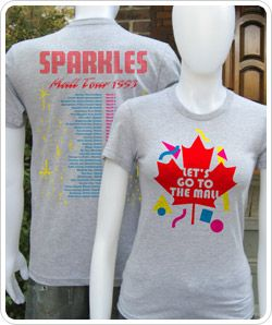 Sparkles Mall Tour t-shirts. Just perfect for Christmas in July.
