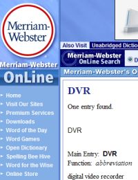 Webster DVR
