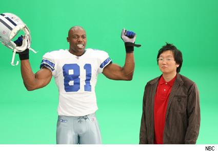 Terrell Owens and Masi Oka