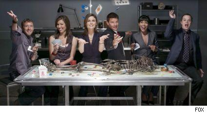 The cast for the third season of Bones