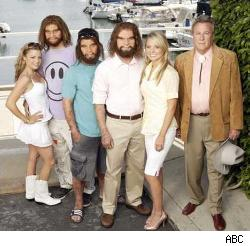The cast of Cavemen