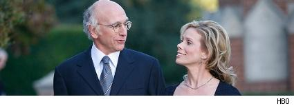 Larry David and Cheryl Hines