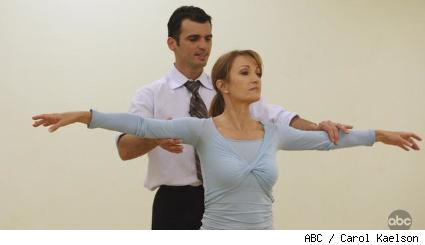 Jane Seymour and Tony Dovolani