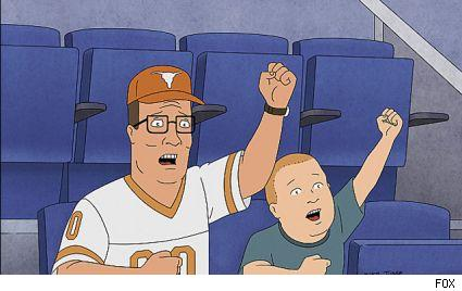 Hank and Bobby Hill on the 12th season premiere of King of the Hill