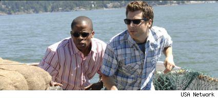 Dule Hill and James Roday in the mid-season finale of Psych
