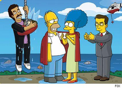 Lionel Richie, Homer, Marge and Steven Colbert