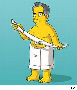 Placido Domingo, who guest stars on this week's episode of The SImpsons