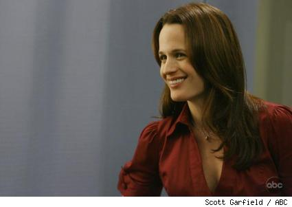 Elizabeth Reaser as Ava/Rebecca on Grey's Anatomy.