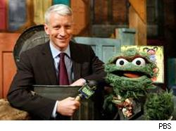 Anderson Cooper, Oscar the Grouch