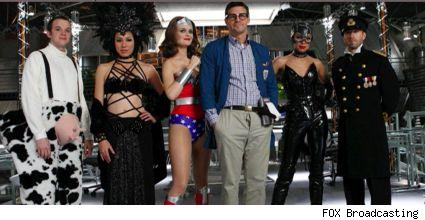 The Cast of Bones in Halloween costume