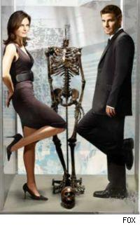 Emily Deschanel and David Boreanaz of Bones