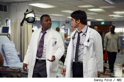 Greg Pratt and Tony Gates in a scene from ER