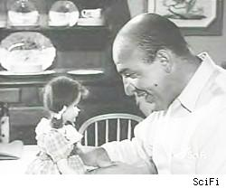 Telly Savalas and Talky Tina in The Twilight Zone's Living Doll