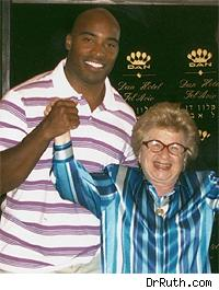 Tiki Barber and Dr. Ruth