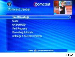 TiVo software on Comcast boxes