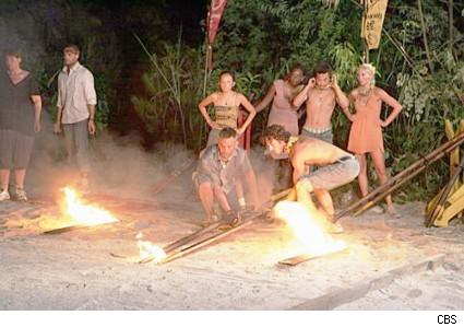 Great chopsticks of fire - Survivor China reward challenge