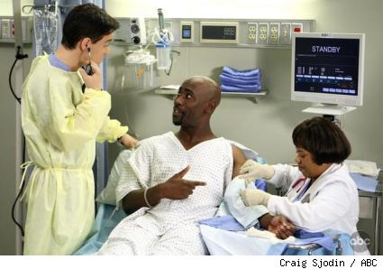T.R. Knight, D.B. Woodside, and Chandra Wilson