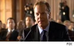 Kiefer Sutherland as Jack Bauer in a scene from the season seven premiere of 24, which has been delayed according to FOX.