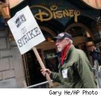 Writers Strike outside Disney