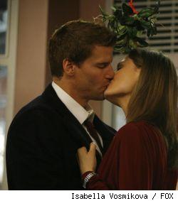 Yes, that is Bones and Booth kissing.