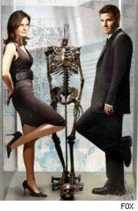 Bones and Booth from the FOX drama 'Bones'