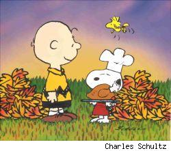 Charlie Brown is thankful for Thanksgiving, and so am I