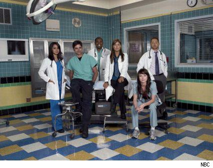 The 2007-08 cast of ER