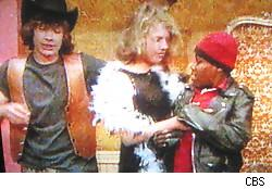 Greg, Blaine in drag, and Markell on Kid Nation