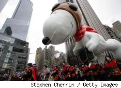Snoopy in the Macy's parade