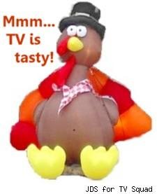 One very thankful TV turkey