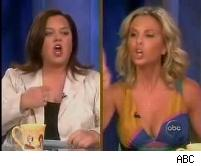 Rosie O'Donnell Elisabeth Hasselbeck The View