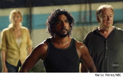 Naveen Andrews, Sam Anderson, and Elizabeth Mitchell