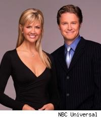 Nancy O'Dell and Billy Bush